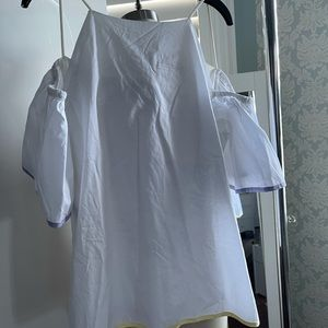 Haoduoyi White Cold Shoulder Blouse Top size XXL